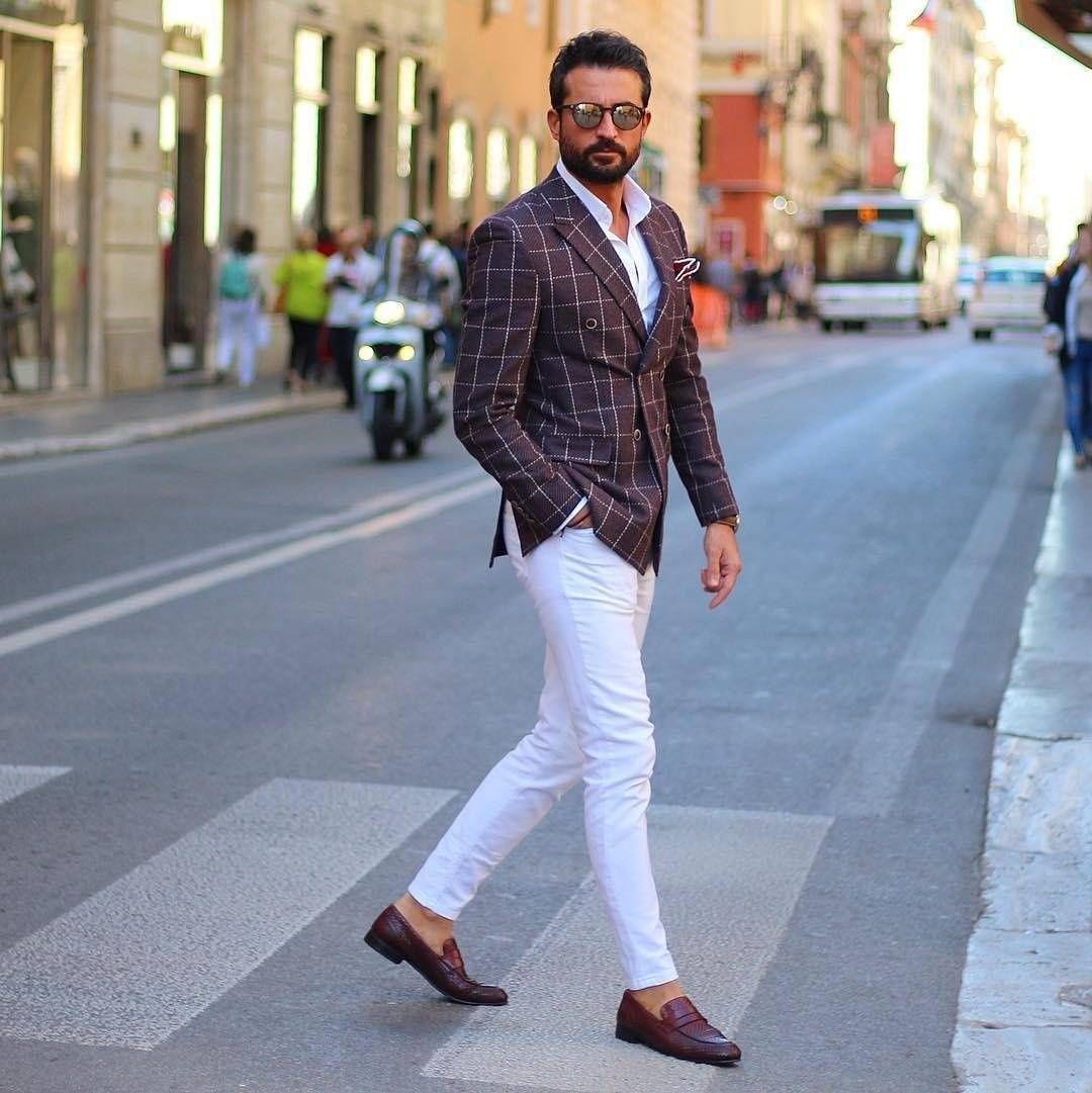 Ubiór eleganckiego mężczyzny w upalny dzień