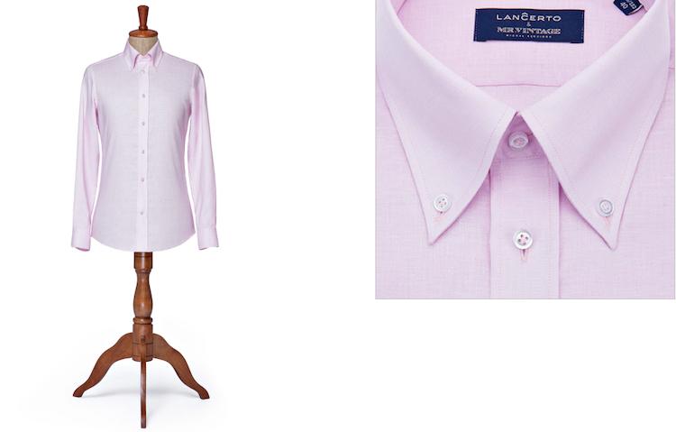 Różowa koszula męska typu slim