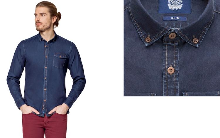 Casualowa koszula jeansowa